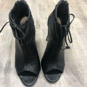 Bootie Open Toe Heels